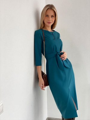 S1876 Платье бестселлер в глубоком синем цвете