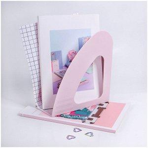 """Лоток для бумаг вертикальный MESHU """"Dew"""", pink dreams"""