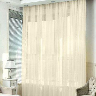 TEXTILE➕№6 - Всё для штор, мягкой мебели, текстиль для дома  — Вуаль однотонная — Занавески