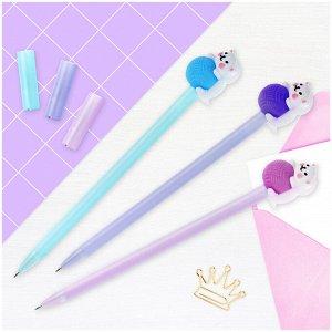 "Ручка шариковая MESHU ""Cute Cats. Кот с клубком"" синяя, 0,7мм, корпус ассорти"