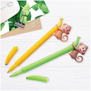 "Ручка шариковая MESHU ""Monkey"" синяя, 0,7мм, корпус ассорти"