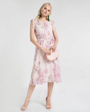 Платье жен. (001148)бежево-розовый