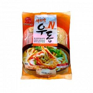 """Удон со вкусом креветки """"N Shrimp Flavor Udon"""" 225г"""