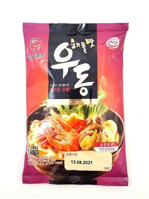 """Удон со вкусом морепродуктов """"Seafood Flavor Fresh Udon"""" 212г"""