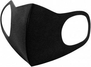 Маска защитная черная ADULT 3D (упаковка 3шт)