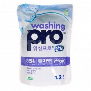 "CJ LION Ср-во д/посуды ""Washing PRO"" 1200мл мягкая упак."