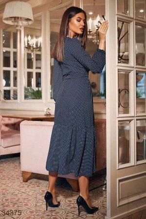 Романтичное платье в горошек