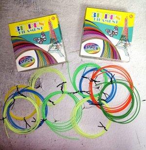 Пластик для 3D ручки, набор 3 штуки