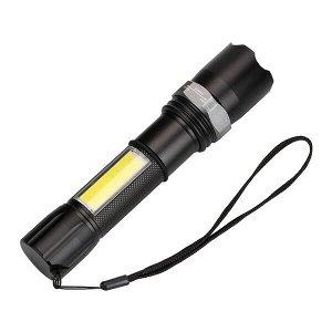 Аккумуляторный USB фонарь с зумом BL-W546-T6 COB+LED