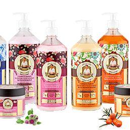 Большой выбор жидкого мыла — Удивительная серия Агафьи -Уход за волосами — Для волос