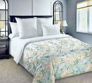 Комплект постельного белья 2-спальный, сатин, с Европростыней (Неизведанная гладь)