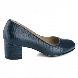 Синие туфли из натуральной кожи. Модель 2367 синий питон