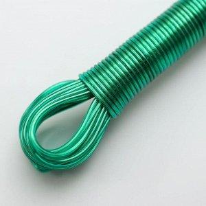 Верёвка бельевая с металлической нитью Доляна, d=2 мм, длина 10 м, цвет МИКС