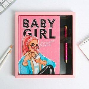 Набор ежедневник 80 л и ручкаBaby girl