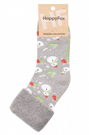 Теплые махровые носки со снеговиком создадут новогоднее настроение и согреют ножки