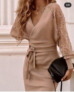Платье Ткань:Турецкая лапша и гипюр Реальный цвет в дополнительных фото ОГ 96 см, ОБ 104 см, длинна изделия 97 см