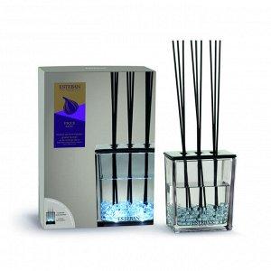 Аромадиффузор Черный инжир 500мл (ваза + декоративный наполнитель + 10 лавсановых палочек + аромат  500 мл)