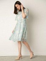 Шифоновое платье с принтом PL1163/wolis