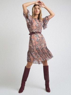 Платье с принтом PL1019/nox