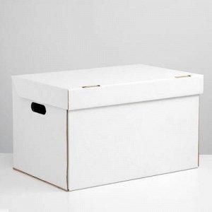 Коробка для xранения, белая, 50 x 34 x 30 см