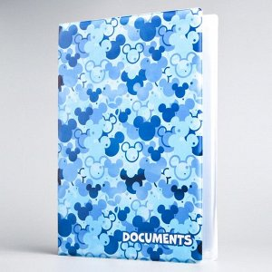 Папка для документов, Микки Маус,12 файлов, 4 комплекта