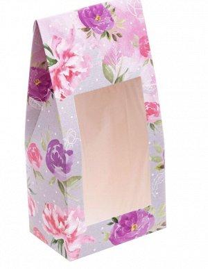 Подарок Размер коробочки 9 × 19 × 6 см, крем для рук Сакура+пиллинг Персик, открытка, сладкий презент(мармелад, шоколад,жевательная резинка или конфеты на выбор поставщика)