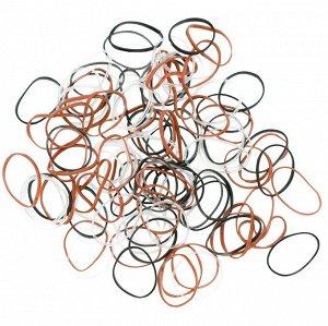 Резинки для волос силиконовые 100 шт Dewal
