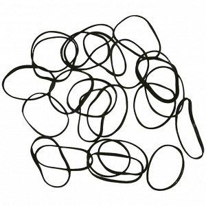 Резинки для волос силиконовые чёрные 100 шт Dewal