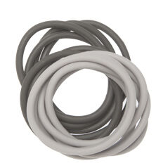 Резинки для волос силиконовые чёрные/серые 12 шт Dewal
