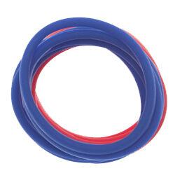 Резинки для волос силиконовые красные/синие 12 шт Dewal