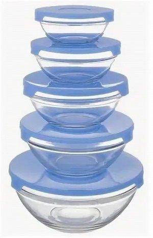 Набор Набор салатников 5 предметов Без выбора цвета диаметр -100мм, 103мм, 125мм, 140мм, 170мм с пластик.крышками