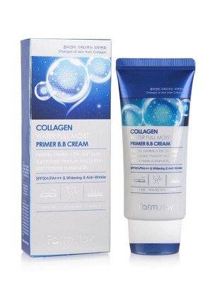 Collagen Water Full Moist Primer B.B. Увлажняющий  ВВ крем с матирующим эффектом с коллагеном