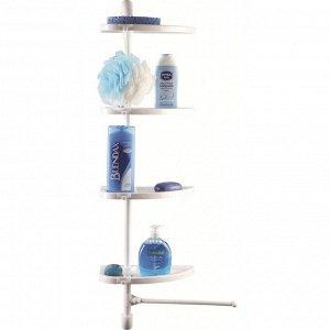 Полка для ванной комнаты, пластик, белый, LINE PLUS, 910 х 280 х 170 мм, 1/12