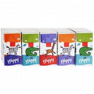 Платочки бумажные Bella baby Happy носовые трехслойные Звери мини,8шт