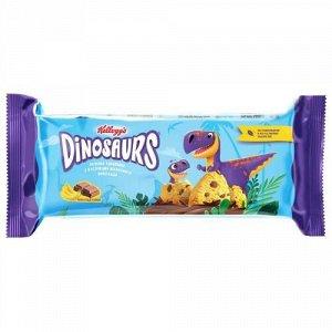 Печенье Kellogg's Dinosaurs сдобное банановое с кусочками молочного шоколада 120 г