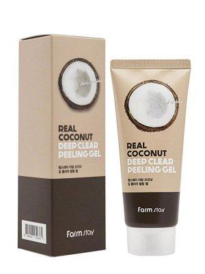 Real coconut deep clear peeling gel Пилинг-скатка  с экстрактом кокоса