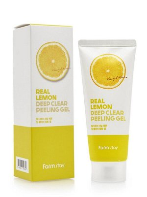 Real Lemon deep clear peeling gel Пилинг-скатка с лимоном