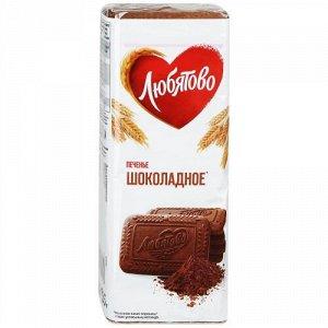 Печенье Любятово Шоколадное сахарное 335 г