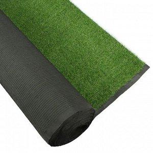 Газон искусственный. ворс 20 мм. 2 ? 25 м. трёхцветный. тёмно-зелёный