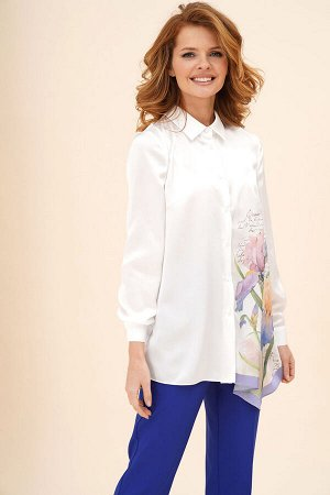 Рубашка Рубашка Fawi 330012 молочный  Состав ткани: Спандекс-2%; Хлопок-98%;  Рост: 164 см.  Отшив в течение 7-10 дней       Оригинальная рубашка прямого силуэта, украшенная дизайнерским принтом &quo