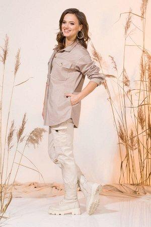 Рубашка Рубашка INPOINT 010  Состав: Вискоза-29%; Шерсть-71%; Сезон: Весна Рост: 170  Эффектная рубашка-куртка (овершот), выполнена из текстильной ткани. Модель свободного силуэта, с отложным воротни
