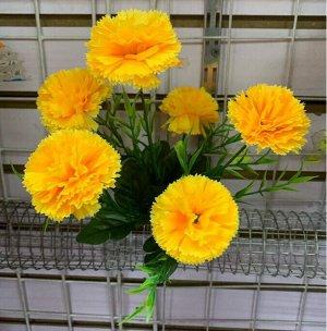 Цветы 6 веток, 30см высота. Цвета в ассортименте