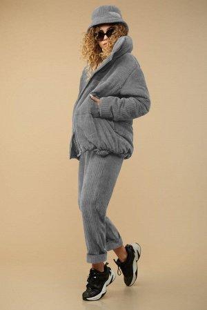 Куртка Куртка Сч@стье 7150s серый  Состав: Вискоза-26%; ПЭ-74%; Сезон: Осень-Зима Рост: 170  Куртка из вельвета в широкий рубчик на синтепоне и подкладке. Центральная застежка на молнию. Куртка свобо