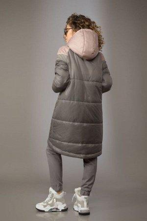 Куртка Куртка Сч@стье 7155  Состав ткани: ПЭ-100%;  Рост: 170 см.  Куртка свободного силуэта из плащевой ткани на синтепоне «Изософт». Застежка центральная на молнию. Капюшон на кнопке, в