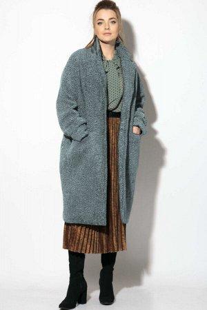 Пальто Пальто SOVA 11112 серый  Состав ткани:Пальто: ПЭ-100%; Подкладка: Вискоза-50%; ПЭ-50%;  Рост: 164 см.  Стильное демисезонное пальто из искусственного меха под каракуль. Пальто оверсайз. Свобод