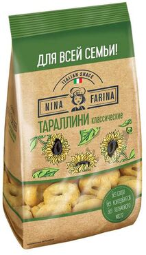 «Nina Farina», тараллини классические, 400 г