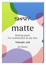 Shary  Матирующие салфетки для лица 'Вулканический пепел' для комбинированной и жирной кожи  12 г