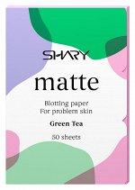 Shary  Матирующие салфетки для лица 'Зеленый чай' для проблемной кожи  12 г