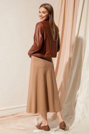 Юбка миди Рост: 170 см. Состав ткани:  Элегантная юбка из гладкой костюмной ткани А-силуэта, длиной миди. Юбка на обтачке, застежка на потайную молнию в боковом шве.