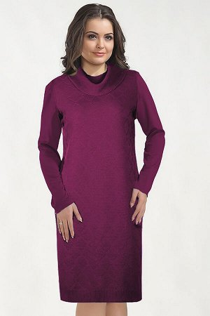 Платье вязаное 4490 К  Ягодный